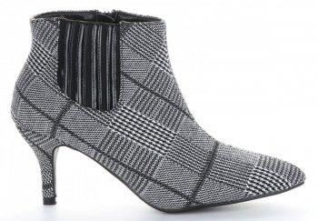 Štýlové dámske členkové topánky s podpätkom Sergio Todzi čierny & Grey