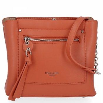 Elegantné dámske messenger bag 3 priehradky od David Jones Orange