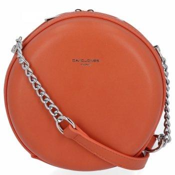 Elegantné Dámske kolo messenger taška od David Jones Coral