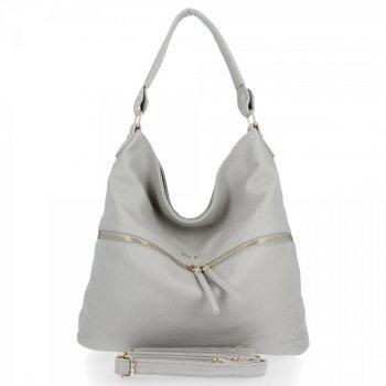 BEE BAG univerzálna dámska taška Denise Veľkosť XL svetlošedá