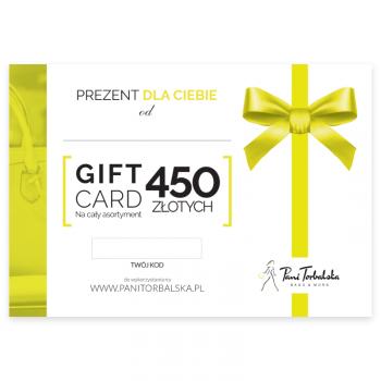 Darčeková karta v hodnote 450 PLN.
