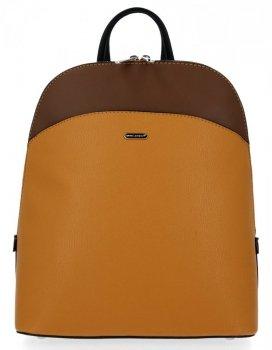 Univerzálny dámsky batoh je ideálny pre každodenné nosenie od horčice David Jones