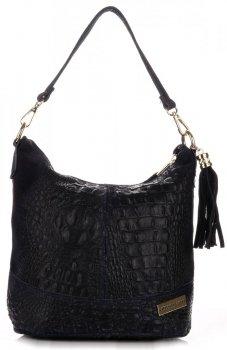 VITTORIA GOTTI kožené kabelky vyrobené v Taliansku aligátor granát