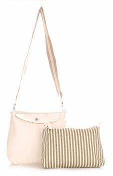 David Jones Dámske messenger taška s bielou kozmetickú tašku