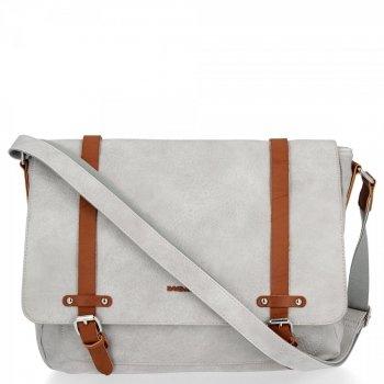 Módne dámske veľké tašky messenger XL Vintage David Jones Gray