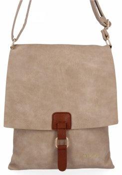 BEE Bag Módne Dámske Messenger Bag XL Napoli tmavo béžová