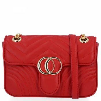 Elegantná dámska taška na messenger pre všetky príležitosti od Herisson červený