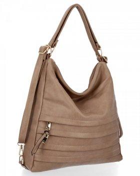 BEE BAG univerzálna dámska taška s funkciou batohu Judite tmavo béžová
