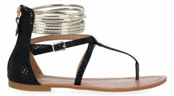 Čierne štýlové dámske sandále od Sergia Todziho