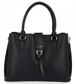 David Jones Trojkomorová taška dámska elegantná čierna taška