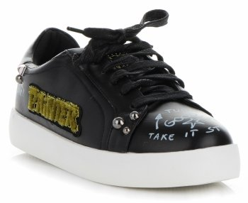 Dámske tenisky s módnym dizajnom od ideálnej čiernej topánky