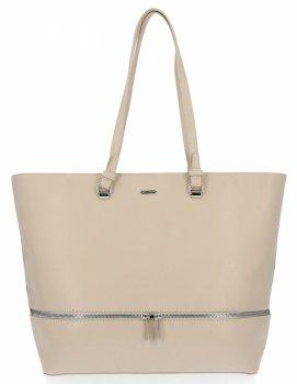 Klasické dámske tašky vo veľkosti XXL od David Jones Béžová