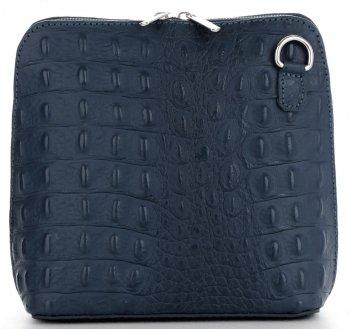 Talianska Kožená taška na messenger vyrobená z pravej kože so vzorom krokodíla slanej vody