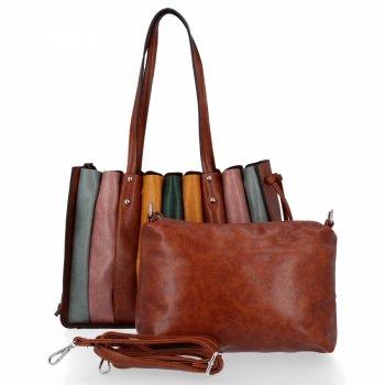 Módna dámska nákupná taška s hnedou taškou Davida Jonesa