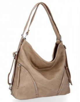BEE Bag univerzálne dámske tašky s funkciou Madison batohu tmavo béžovej