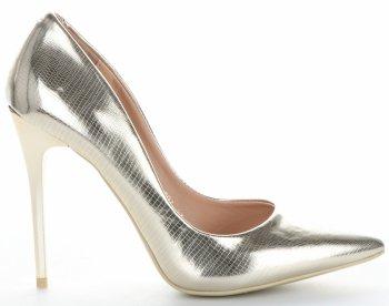 Elegantné dámske ihlové topánky Bellucci zloty