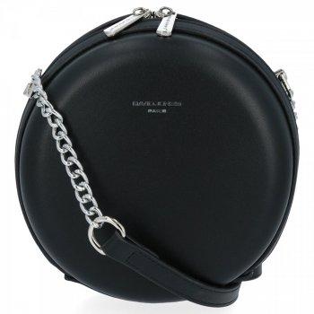 Elegantná Dámska okrúhla taška David Jones čierny