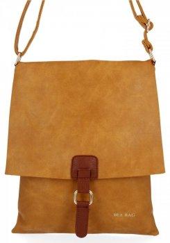BEE Bag Módne Dámske Messenger Bag XL Napoli svetlo červená