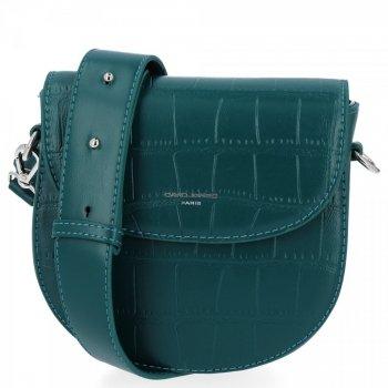David Jones Elegantné Dámske tašky Messenger v zvieracom štýle fľašu Zelená