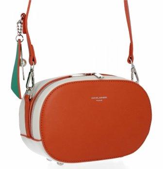 Univerzálne Dámske tašky David Jones orange / béžová