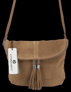 Univerzálna príležitostná Kožená taška na messenger vo veľkosti M od Vittoria Gotti Earthista