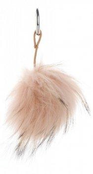 Kľúčenka na tašky Veľké prírodné Pompon mýval pes marhuľa