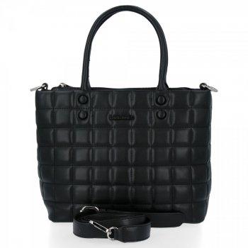 David Jones Elegantná taška cez rameno Dámska prešívaná taška cez rameno Čierna