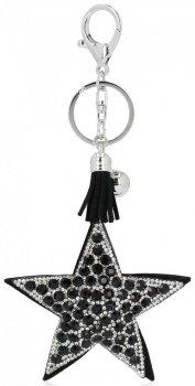 Hviezda PeŘaženka Kľúčenka s kamienkami Čierna