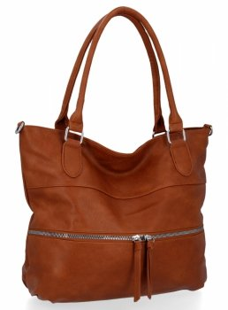 Uniwersalna Torebka Damska Herisson Shopper Bag Brązowa