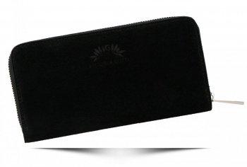 Kožená dámska peŘaženka značky Vittoria Gotti vyrobená v Taliansku Čierna