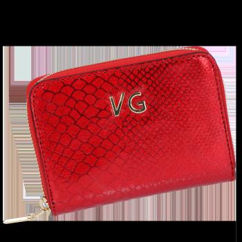 Exkluzívna Krokodílová Kožená peŘaženka Vittoria Gotti pre ženy Vyrobená v Taliansku Červená