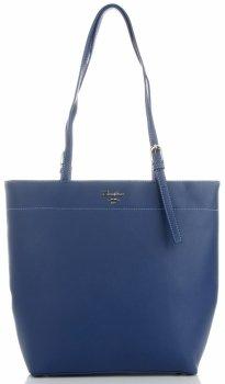 Klasické dámske Shopper taška od David Jones Tmavo modrá