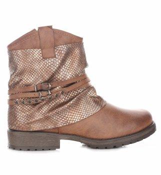 Dámske hnedé členkové topánky
