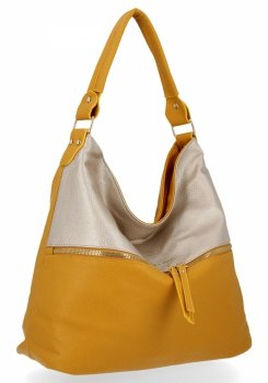 Bee Bag štýlová univerzálna XL Zelia horčica / Zlotá taška