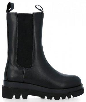 Čierne členkové topánky na platforme Milano