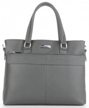 Vittoria Gotti Klasická kožená Aktovka taška pre ženy A4 talianskej výroby Šedá
