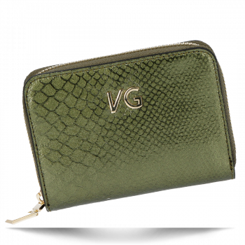 Exkluzívna Kožená peŘaženka Vittoria Gotti pre ženy v krokodílovom štýle vyrobená v Taliansku Zelená