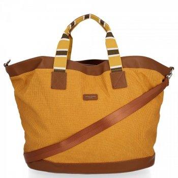 Univerzálne a módne cestovné tašky David Jones žltý