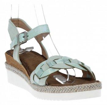Zelené módne dámske klinové sandále od Lady Glory