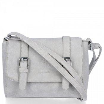 BEE BAG Dámske Messenger Vintage Bag Svetlo šedá