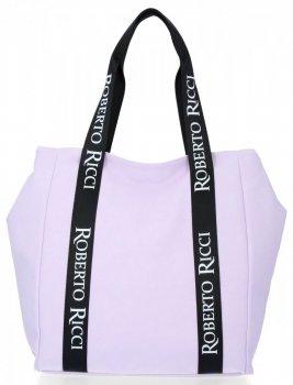Univerzálna a módna dámska príležitostná taška Roberto Ricci svetlo fialová