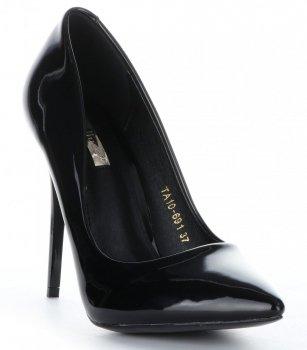 Klasické dámske Bellucci Patent čierne podpätky