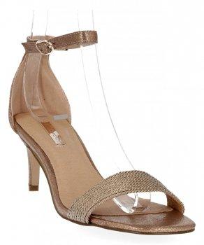 Šampanské Dámske sandále s vysokým podpätkom Bellucci