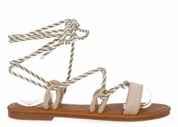 Béžové módne dámske sandále od spoločnosti Givana