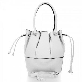 Módna a všestranná príležitostná dámska taška David Jones biela