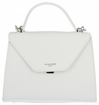 Kabelky značky David Jones Dámske štýlové biele tašky