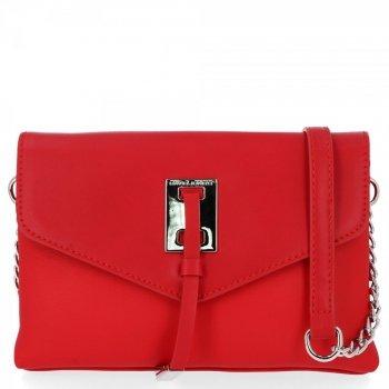 Elegantná dámska dvojkomorová taška David Jones červený