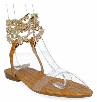 Žlté Dámske sandále s retiazkou od Sergia Todziho