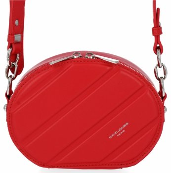 Módne dámske tašky messenger pre všetky príležitosti David Jones červený