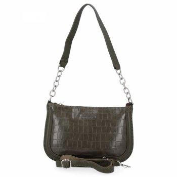 David Jones Elegantné Dámske tašky módne Messenger tašky v štýle zvierat khaki